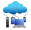 Backup cloud computing concept Stock Image