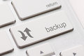 Backup computer key in for archiving and storage Stock Image