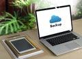 Backup Download copies of data, Computing Digital Data transferring Royalty Free Stock Photo