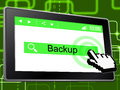 Backup Online Shows World Wide Web And Archives Royalty Free Stock Photo