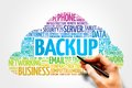 Backup word cloud business concept Stock Photography