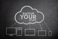 Backup your stuff concept background Stock Image