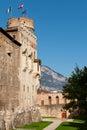 Backyard of Castello del Buonconsiglio Stock Image