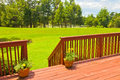 Backyard deck large residential wooden Stock Photography