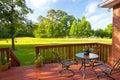 Backyard Deck Royalty Free Stock Photo
