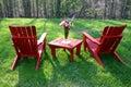 Backyard furniture Royalty Free Stock Photo