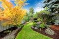 Backyard Landscape Design. Tro...