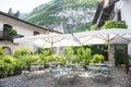 Backyard patio in Italy Royalty Free Stock Photo