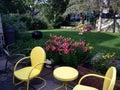 Backyard patio in a minnesota summer Royalty Free Stock Photography