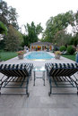 Backyard Pool House Royalty Free Stock Photos