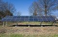 Backyard solar panels are a great way to reduce energy costs and co emissions Stock Images