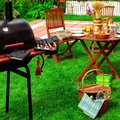 Backyard Summer BBQ & Cocktail Party Scene Royalty Free Stock Photo