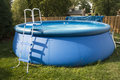 Backyard Inflatable Children Swimming Pool Royalty Free Stock Photo