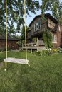 Backyard swing Royalty Free Stock Photo