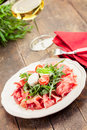Bacon Arugula Salad Royalty Free Stock Photography