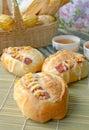 Bacon bread Stock Photos