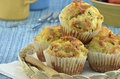 Bacon cheddar muffins Stock Photos