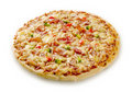 Bacon and cheese pizza Royalty Free Stock Photo