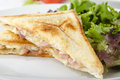 Bacon & Cheese Toastie Royalty Free Stock Images