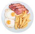 Bacon, Egg & Chips Royalty Free Stock Photos