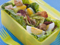 Bacon and Egg Salad Lunch Box Stock Photography