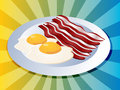 Bacon and eggs Stock Images