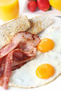 Bacon and Eggs Stock Image