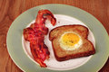 Bacon,Eggs and Toast. Stock Photos