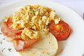 Bacon and Eggs Toast Breakfast Royalty Free Stock Images