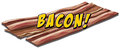 Bacon flavour icon with text Stock Image