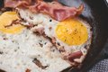 Bacon and fried eggs Royalty Free Stock Photo