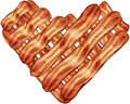 Bacon Strips In Heart Shape