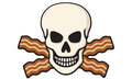 Bacon skull vector illustration of with crossed Royalty Free Stock Photo