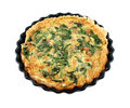 Bacon And Spinach Quiche Royalty Free Stock Photo