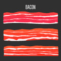 Bacon vector illustration Royalty Free Stock Photo