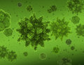 Bacteria virus microworld concept background group of spiny microorganisms Royalty Free Stock Photo