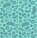 Bacterium patten seamless hand drawn pattern vector illustration Stock Image