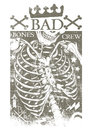 Bad bones crew vector illustration ideal for printing on apparel clothes Royalty Free Stock Photos
