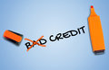 Bad credit word Royalty Free Stock Photo