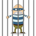 Bad guy in jail Stock Image