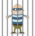 Bad guy in jail Royalty Free Stock Photo