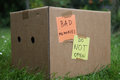 Bad memories box with do not open Royalty Free Stock Photography