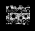 Bad memory concept with holes in word Royalty Free Stock Images