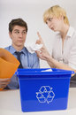 Bad recycling habits Royalty Free Stock Photos