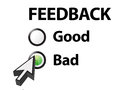 Bad selected on a feedback question Royalty Free Stock Image