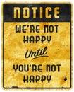 Bad Service Sign Man Cave Not Happy Motto Slogan Royalty Free Stock Photo