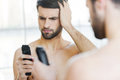 Bad shaver. Royalty Free Stock Photo
