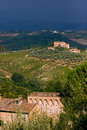 Bad wheater in the hills of toscane Royalty Free Stock Photo