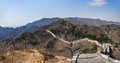 Badaling great wall the end of the at scenic southern slope Stock Photo