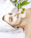 Badekurort-Gesichtsbehandlung-Schablone Stockbilder